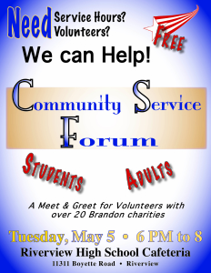Community Service Forum at Riverview HS @ Riverview High School | Riverview | Florida | United States
