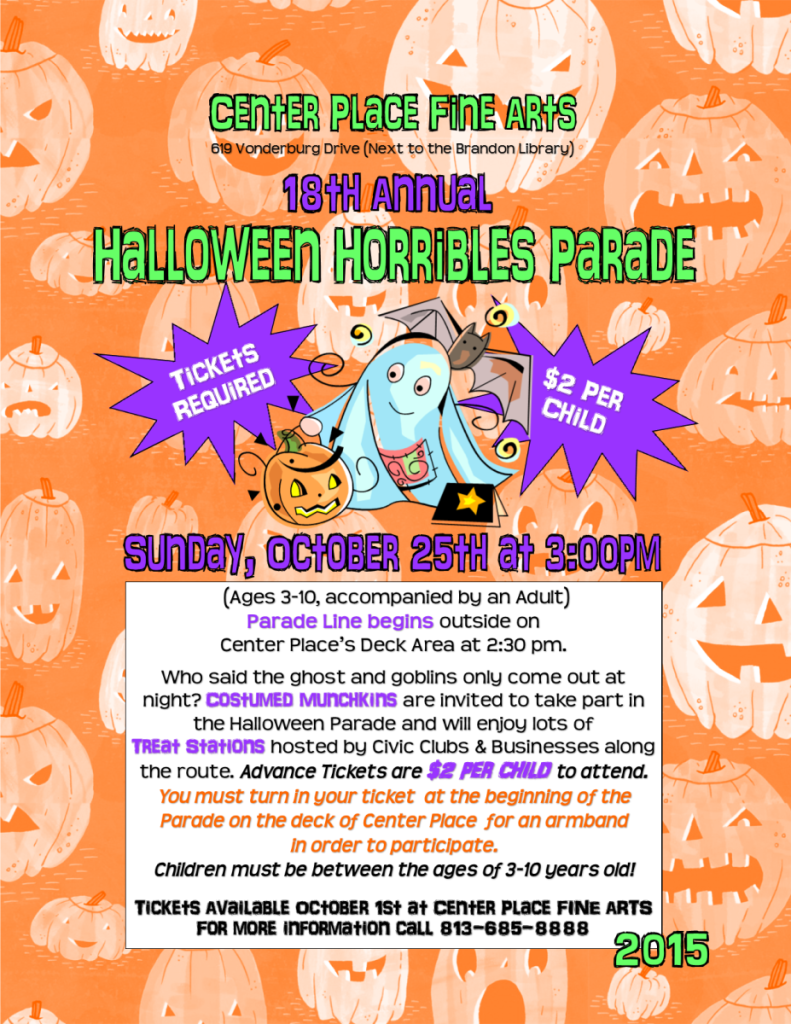 Halloween Horribles Parade 2015 @ Center Place Fine Arts and Civic Association | Brandon | Florida | United States