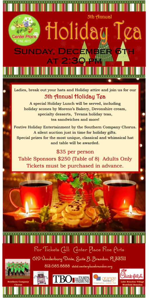 5th Annual Holiday Tea @ Center Place Fine Arts and Civic Association | Brandon | Florida | United States