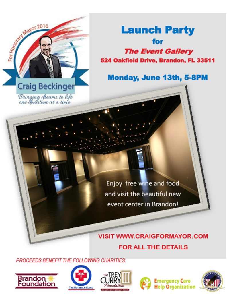 Craig Beckinger - Launch Party at The Event Gallery @ The Event gallery | Brandon | Florida | United States
