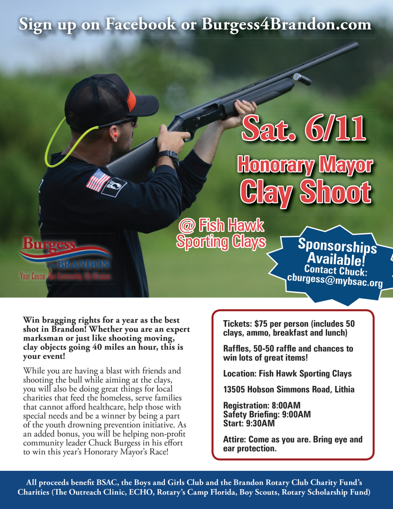 Chuck Burgess - Honorary Mayor Clay Shoot @ Fishhawk Sporting Clays | Lithia | Florida | United States
