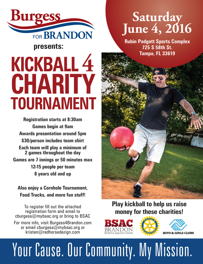 Chuck Burgess - Kickball 4 Charity Tournament @ Rubin Padgett Sports Complex | Tampa | Florida | United States