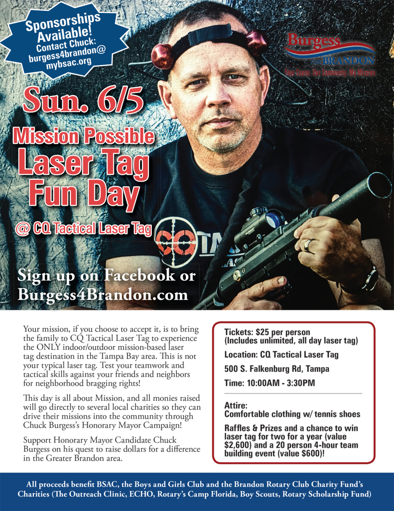 Chuck Burgess - Mission Impossible Laser Tag @ CQ Tactical Laser Tag | Tampa | Florida | United States