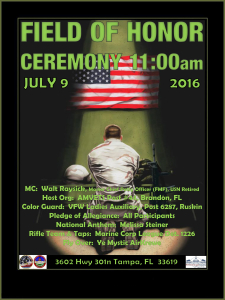 Field of Honor Ceremony @ Veterans Memorial Park and Museum | Tampa | Florida | United States