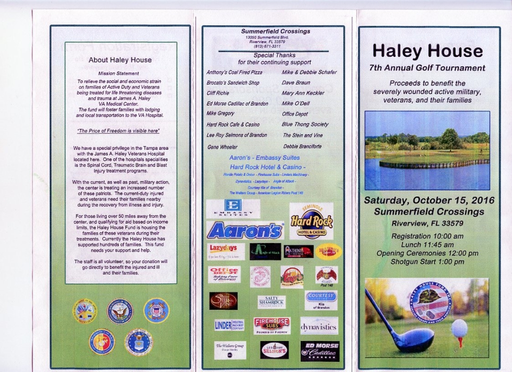 Haley House 7th Annual Golf Tournament @ Summerfield Crossings Golf Course | Riverview | Florida | United States