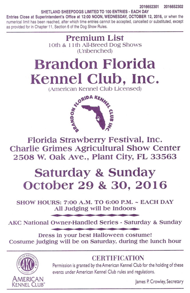 BFKC - FREE Dog Show @ The Charlie Grimes Family Agriculture Center | Plant City | Florida | United States