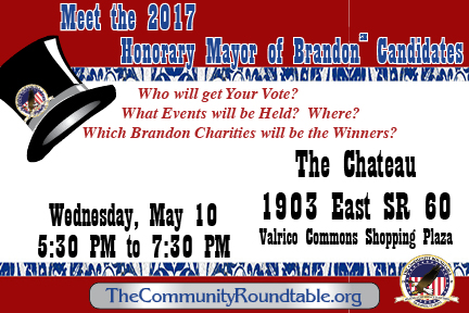 Meet the Honorary Mayor Candidates @ The Chateau - Valrico Commons Shopping Plaza   Valrico   Florida   United States